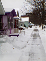 sidewalk shoveled on our street
