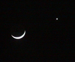 Moon and Venus after dark: 8 pm CST