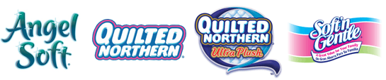 GP consumer toilet paper brands: Angle Soft, Quilted Northern, Soft 'n' Gentle