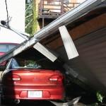 Car under Garage - 1100 block Green Bay St.