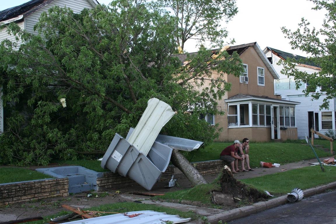 Tornado Damage - 1200 block Green Bay St.