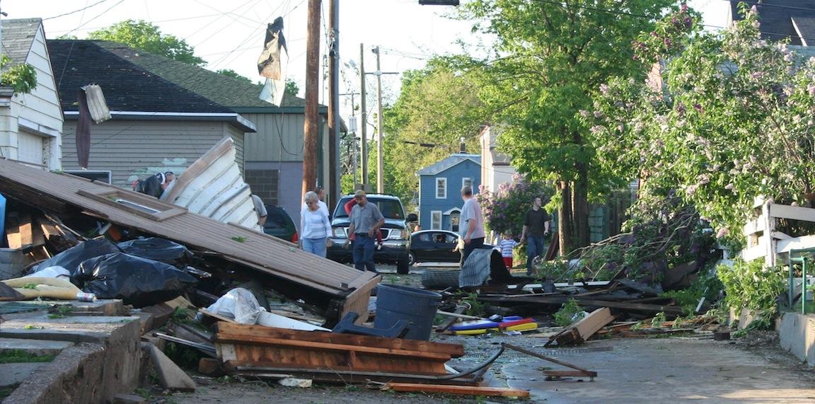 Collapsed Garage - 1200 block Redfield St.