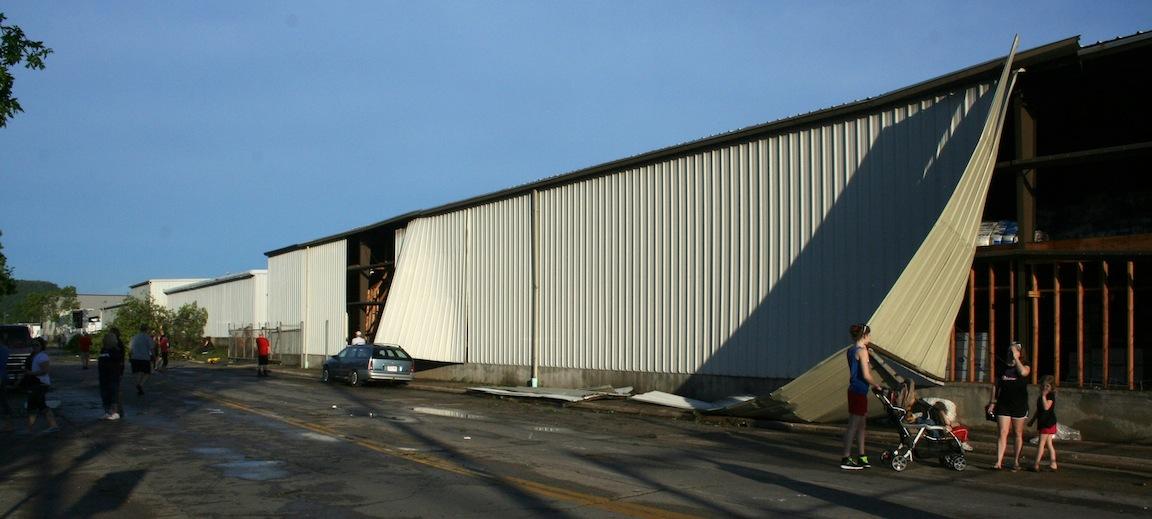 Warehouse Damage - 1200 block Green Bay St.