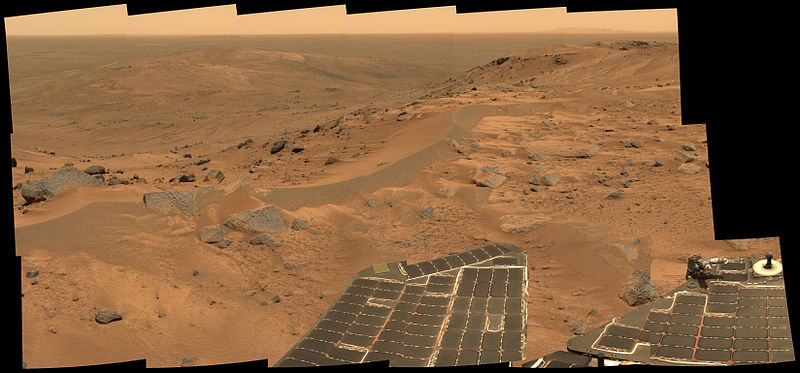 "A view of Mars from the rover ""Spirit"""
